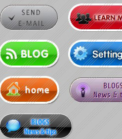 Vertical Scrolling Menus Flash Blue Button Drop Down Menu