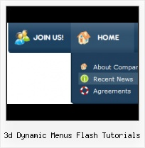 Bubble Menu From Pictures Menu 3d Flash Template