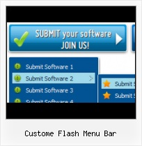 Flash Button Video Vertical Flash Sliding Menu