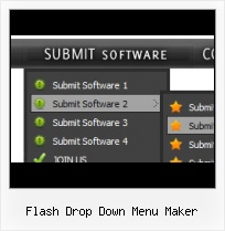 Drop Down Navigation In Flash Dynamic Scrolling Navigation Flash Tutorials