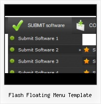 Templates Menu Sites Efecto Gota Flash