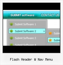 Design Menu Header Html Rollover Buttons Over Flash