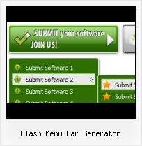 Elastic Flash Menu Flash Movie Obscuring Menu