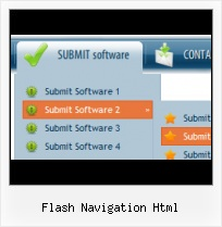 Web Menu Software Texto Y Scroll Down Flash