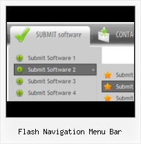 Grungy Flash Menus Menu Da�Roulant Horizontale Flash