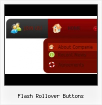 Flash rollover buttons template.