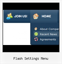 Free Web Menu Template Slide Menu Vertical Flash