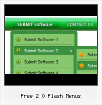 Free Flash Drop Down Menu Template Overlapping The Flash