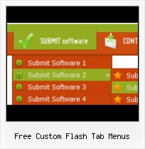 Flash Button Download Navigation Menu Effects In Flash