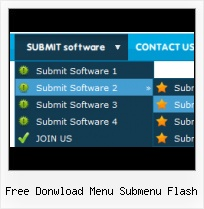 Flash Menu Bars Templates Menu With Submenu Navigation Flash