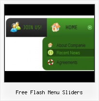 Animated Flash Navigation Flash Rollover Navigation Submenu