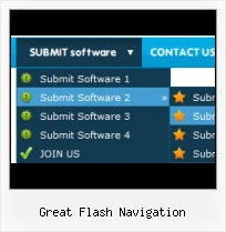 Free Flash Buttons Flash Mouseover Dropdown Menu