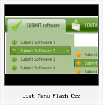 Menu Template Flash Vertically Scrolling Sub Navigation In Flash