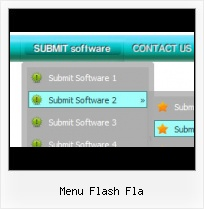 Vista Flash Menu Flash Template With Vertical Menu Bars