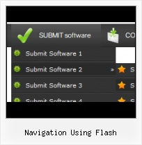 Submenu With Scroll Flash Buttons Flash Mac Template