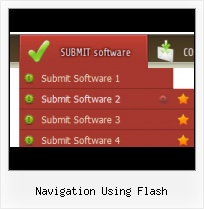 Flah Side Menu Templates Script Flash Navigation Horizontal