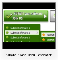 Drop Down Menu Flash Template Flash Actionscripts Collapsing Menu