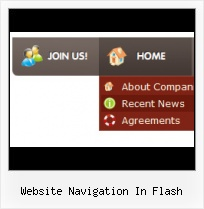Free Flash Horizontal Web Menu Menu Down Down Flash