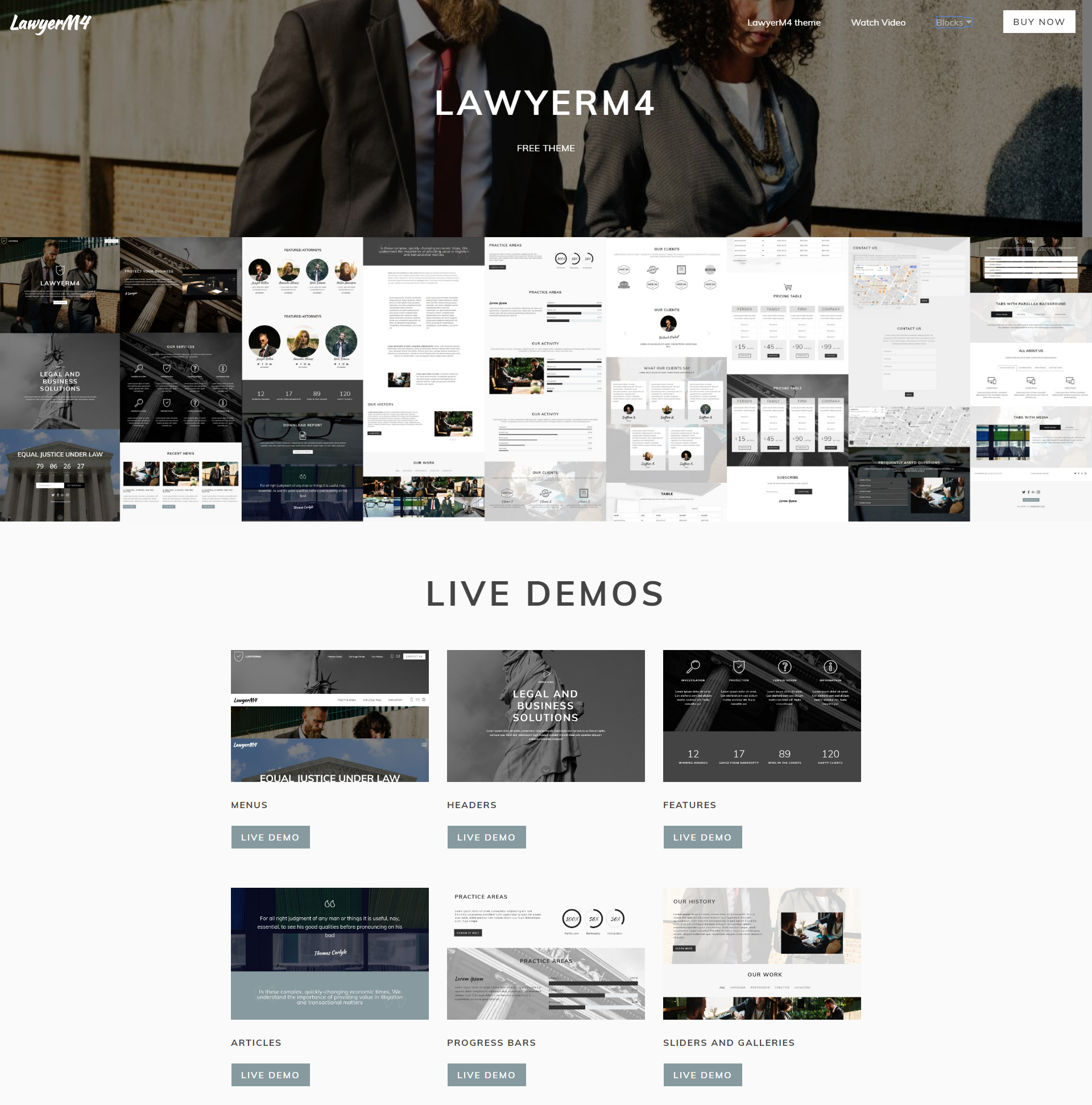 Free Bootstrap LawyerM4 Themes
