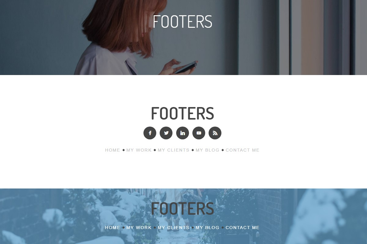 Awesome Footer