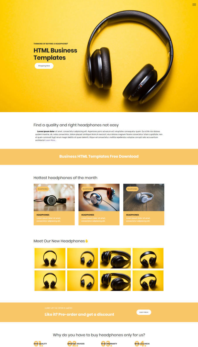 Website Bootstrap Template