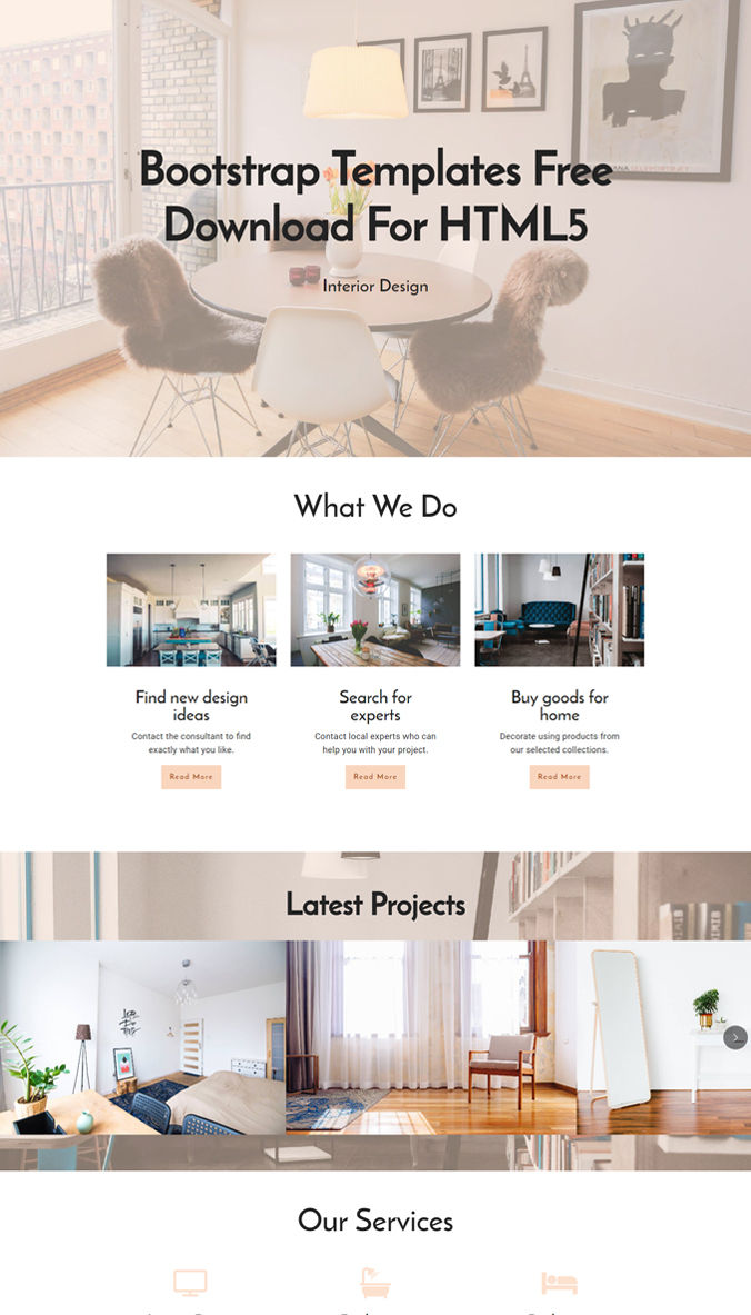 HTML Layout Template